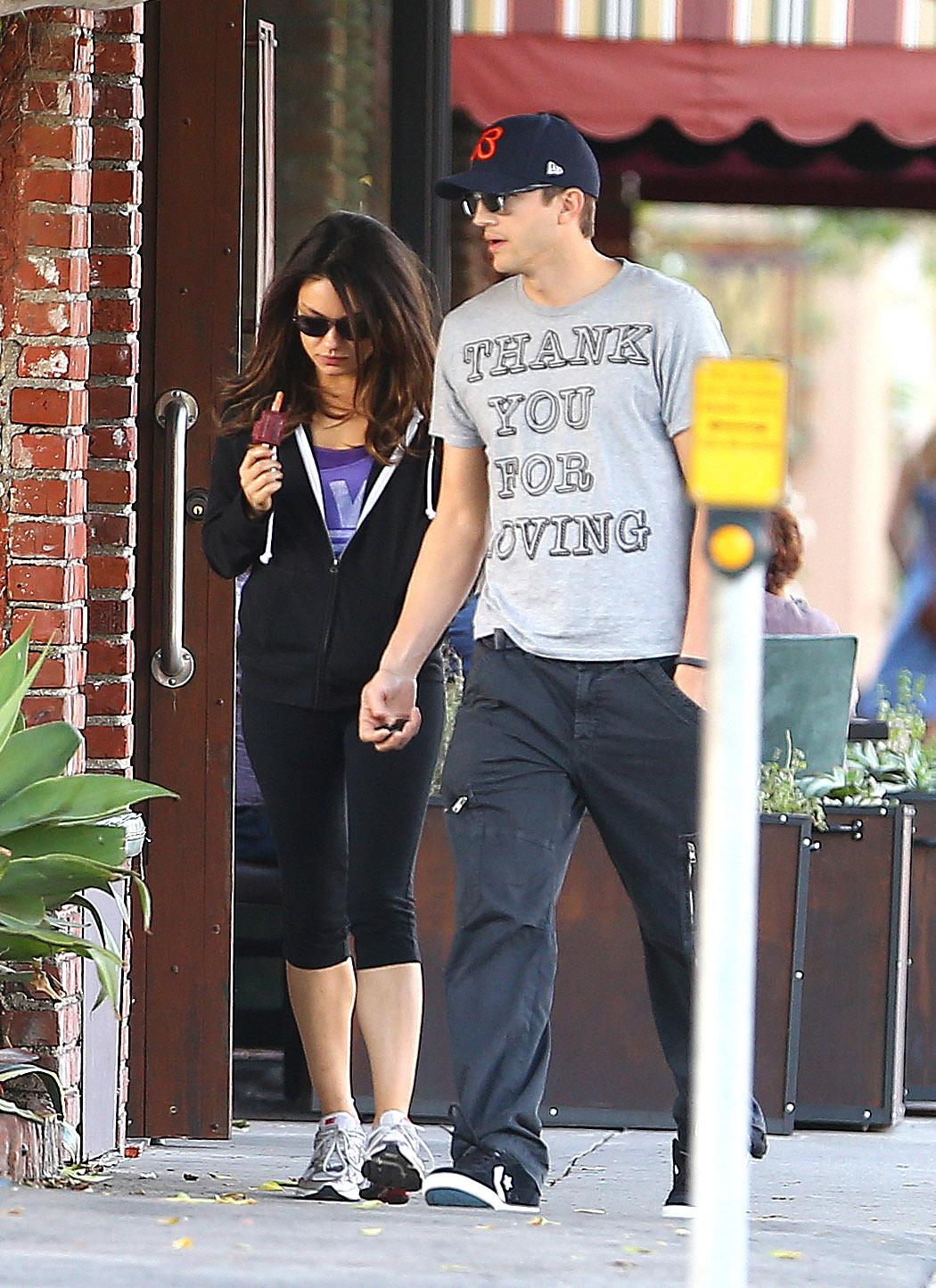 They held hands in LA in October 2012.