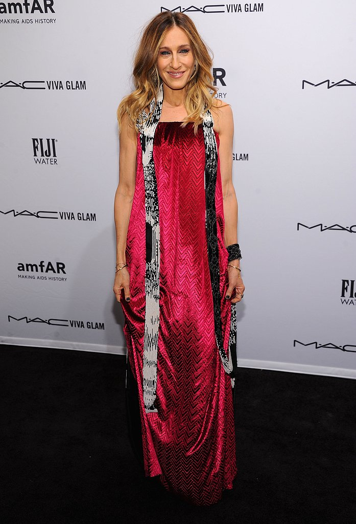 Sarah Jessica Parker wore a stunning pink gown from Maison Martin Margiela's Spring 2013 Couture collection.