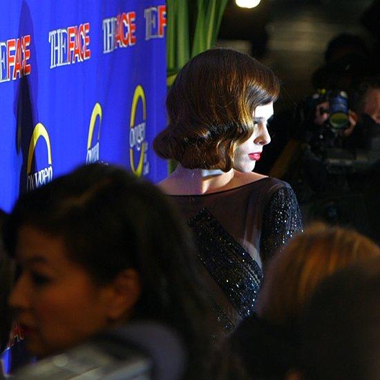 Karolina Kurkova and Coco Rocha at The Face Premiere (Video)