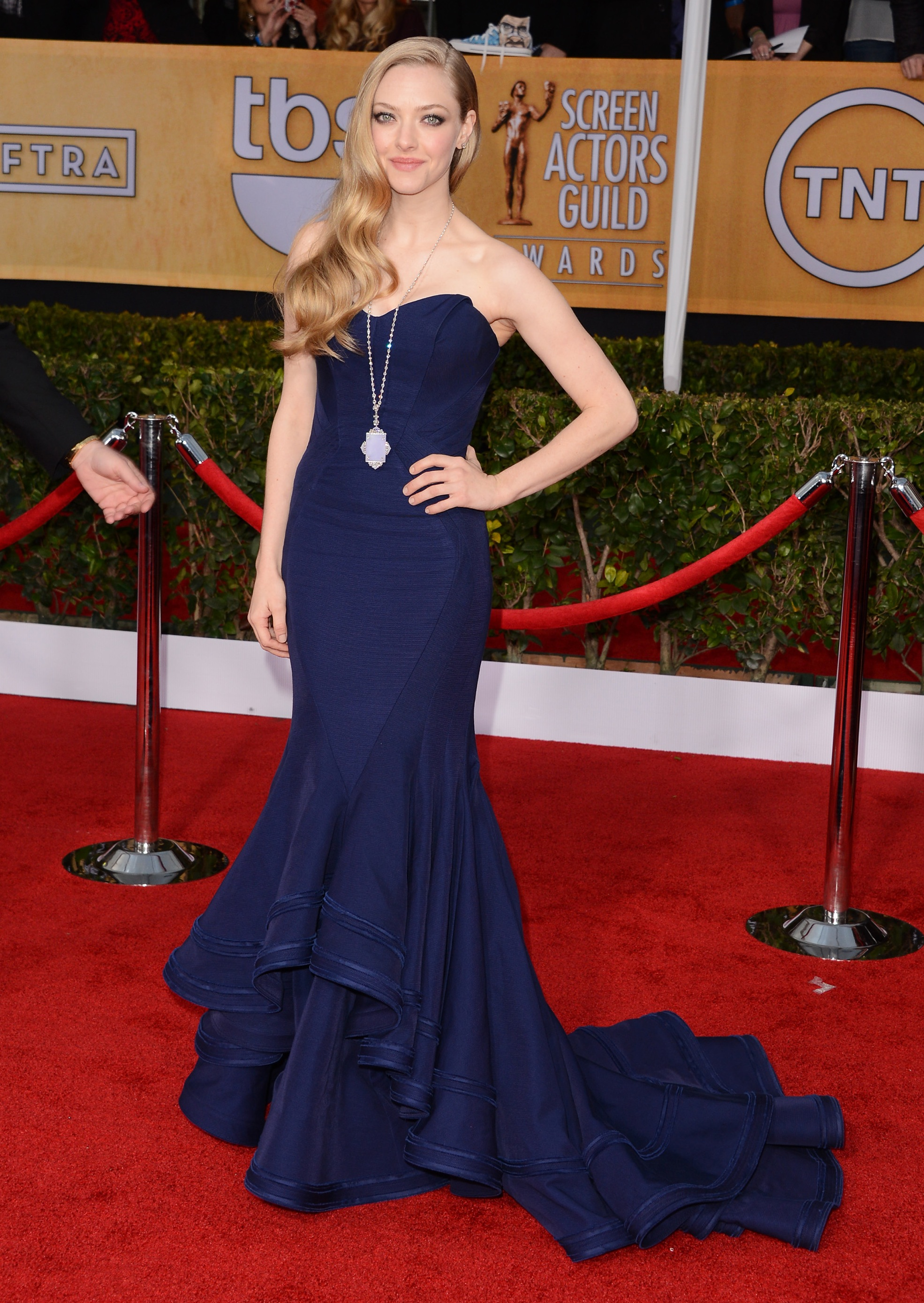 Posen is already a go-to fixture on the red carpet, and Amanda Seyfried's navy blue SAG Awards gown is the most recent reason why A-listers love him. Who do you think will be spotted first in the new line?
