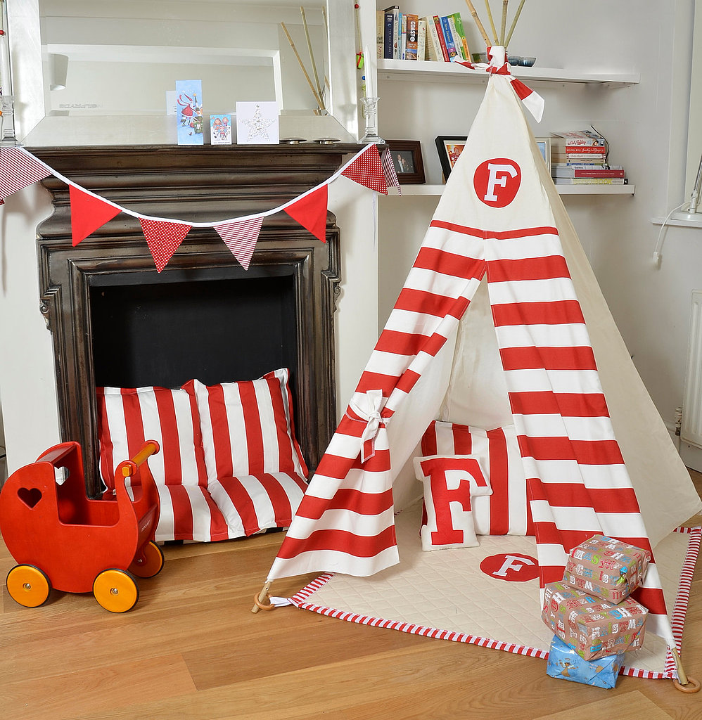 Personalized Striped Teepee