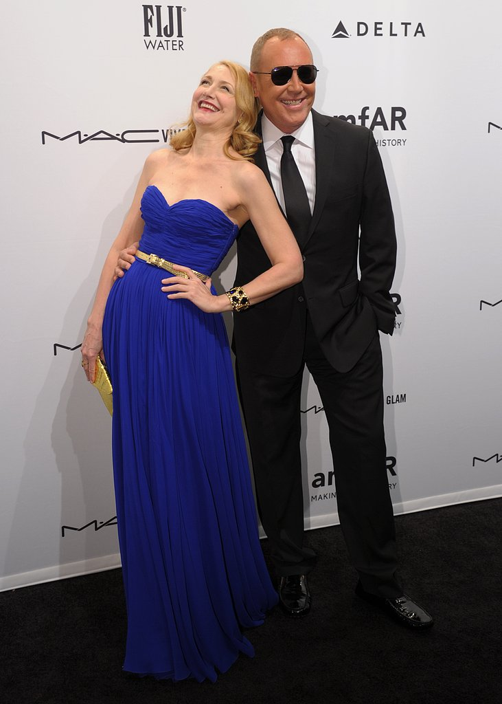 On Wednesday, Patricia Clarkson laughed with Michael Kors at the amfAR New York Gala.