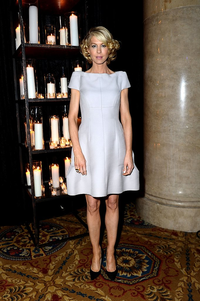 Jenna Elfman went for a cocktail dress when she attended the amfAR New York Gala in February.