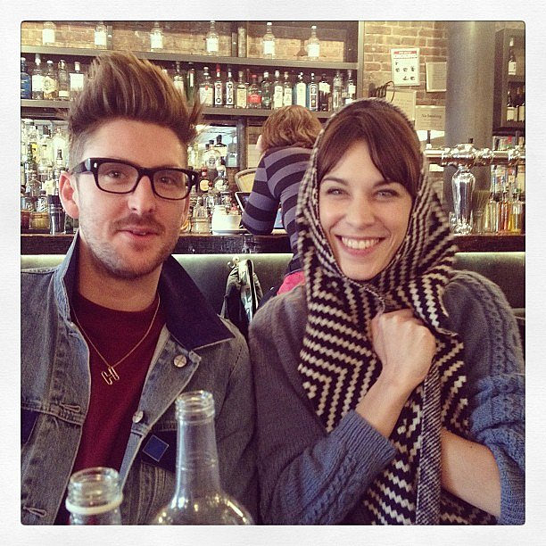 Henry Holland and Alexa Chung met up for a meal. Source: Instagram user chungalexa
