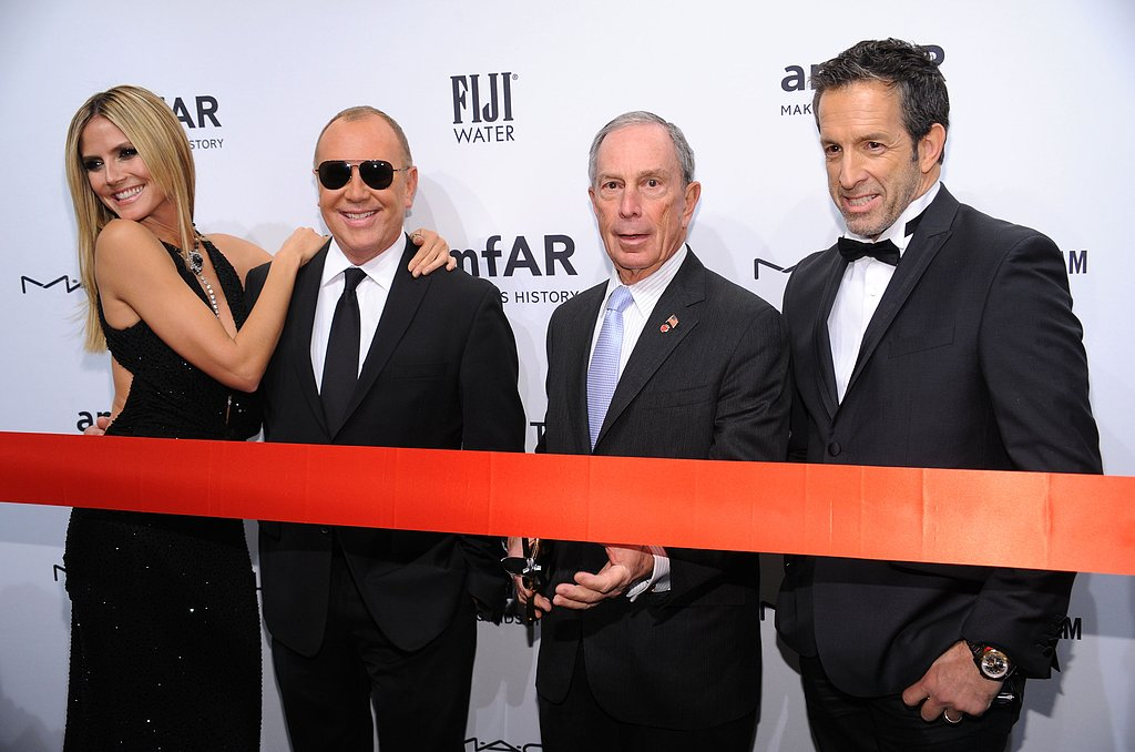Heidi Klum, Michael Kors, Michael Bloomberg and Kenneth Cole