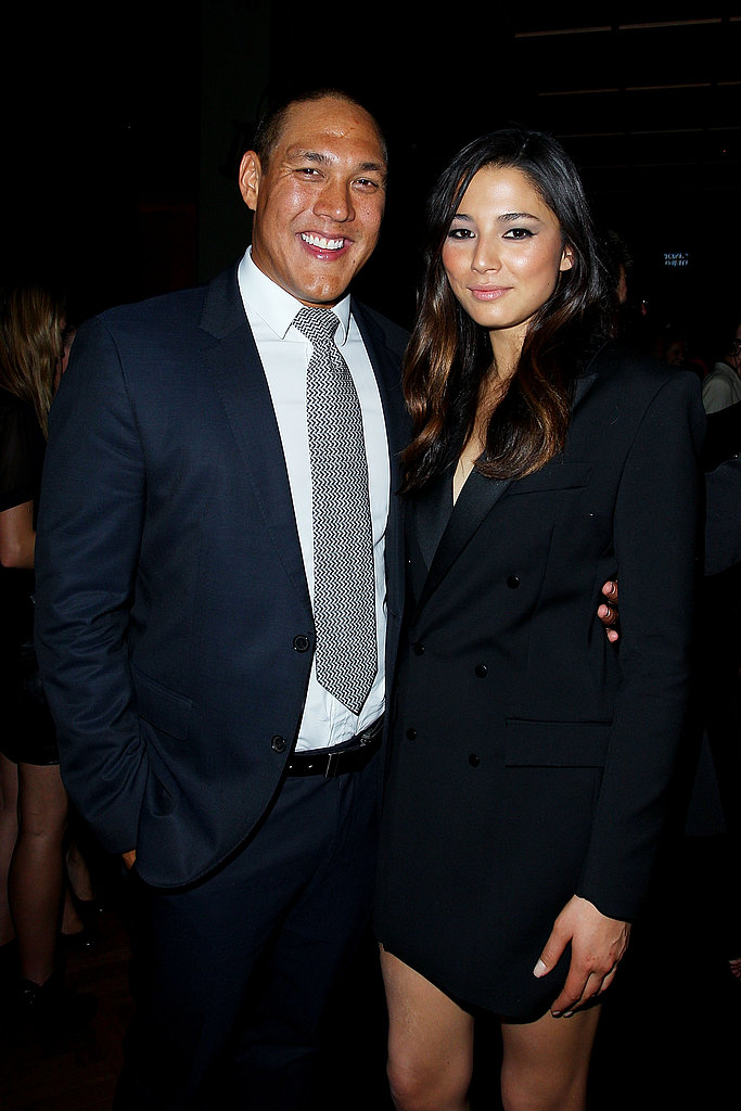 Geoff Huegill and Jessica Gomes
