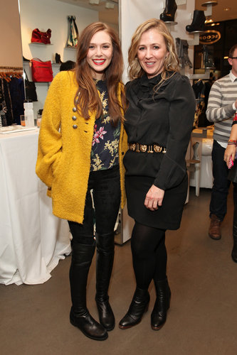 Elizabeth Olsen met up with Cher Coulter at the AG Cher Coulter bash held at NYC's Scoop in February.