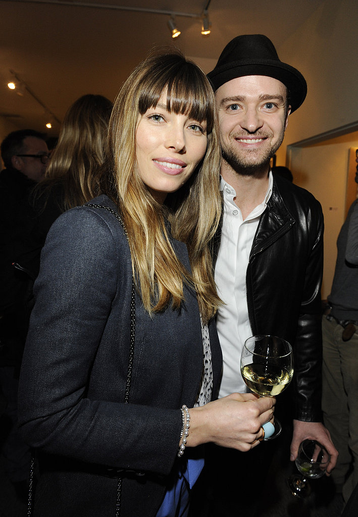 Jessica Biel and Justin Timberlake smiled while out together in LA.
