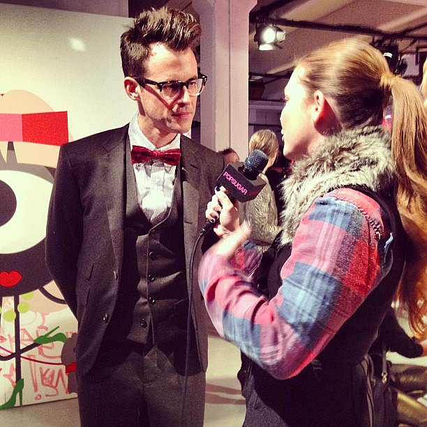 Our reporter Allison McNamara interviewed stylist Brad Goreski at Kate Spade.