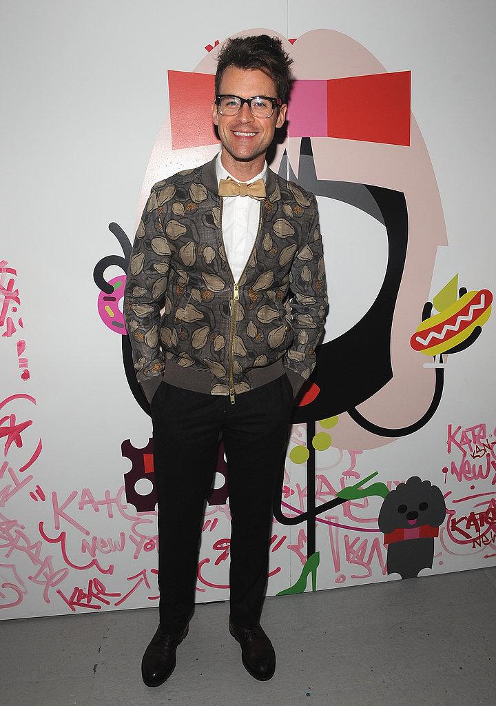 Brad Goreski celebrated Kate Spade's 20th anniversary in NYC during Fashion Week in February.