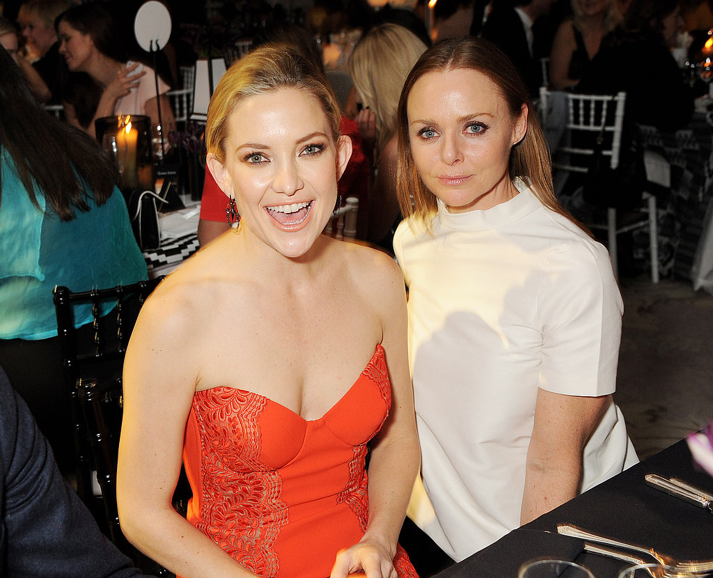 Kate Hudson hung out with designer Stella McCartney during the show.