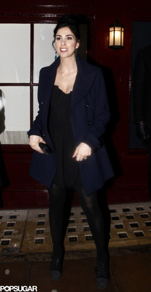 Sarah Silverman went for a simple look at a BAFTA Awards afterparty.