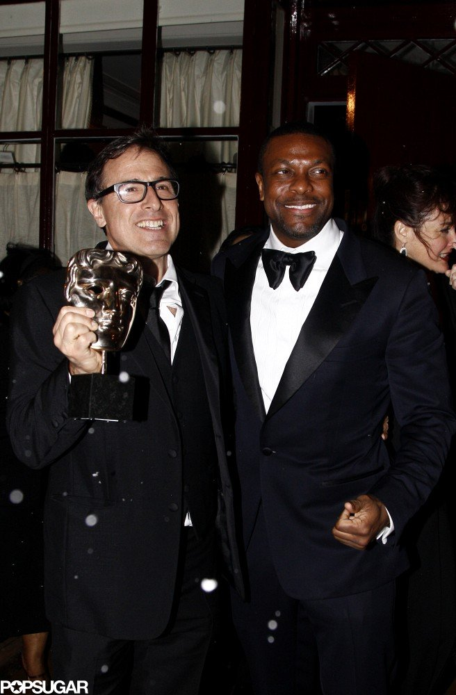 David O. Russell showed off his BAFTA with Chris Tucker.