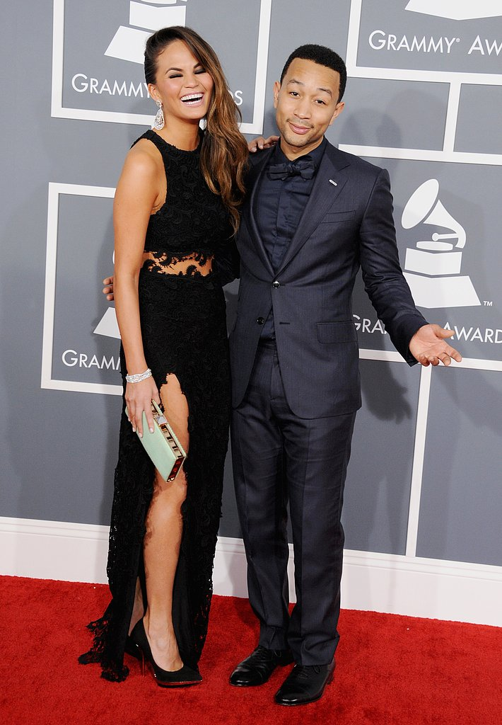 Chrissy Teigen and John Legend laughed it up for the cameras.