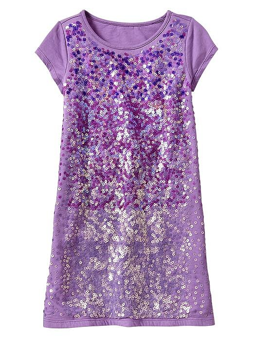She'll sparkle in this festive sequin-embellished dress ($40).