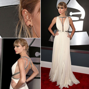 Pictures of Taylor Swift in J Mendel at the 2013 Grammys
