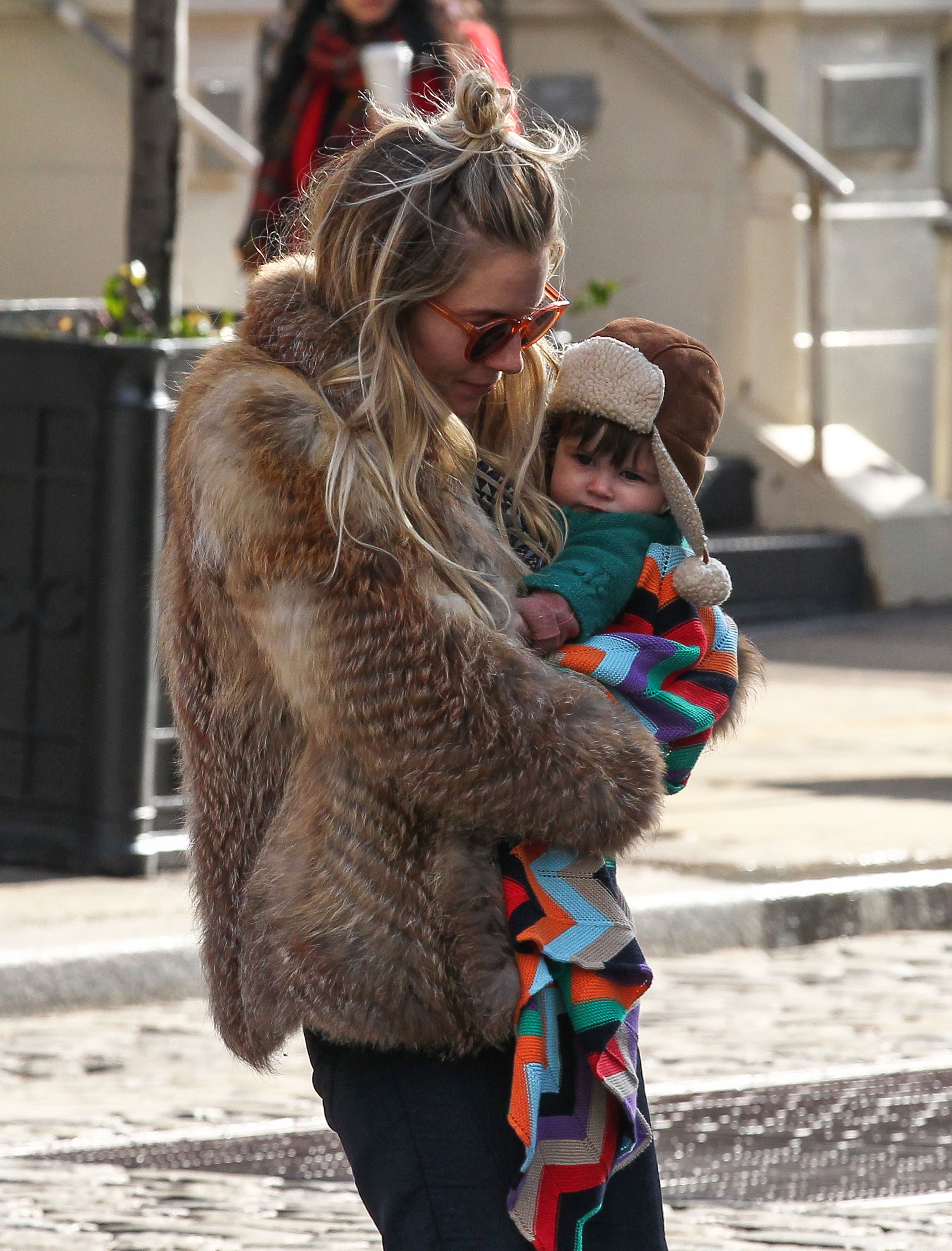 Sienna Miller went out in NYC with Marlowe Sturridge.