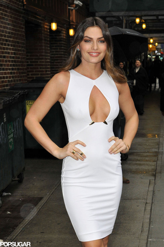 Alyssa Miller wore a white dress.