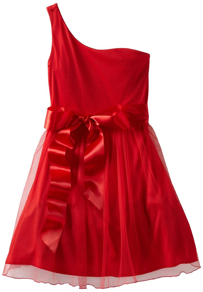 It seems as if there's a one-shoulder dress on every red carpet, so she will fit in perfectly with this tulle party dress ($58) that also comes in blue.
