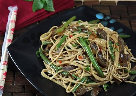 Spicy Soba and Eggplant