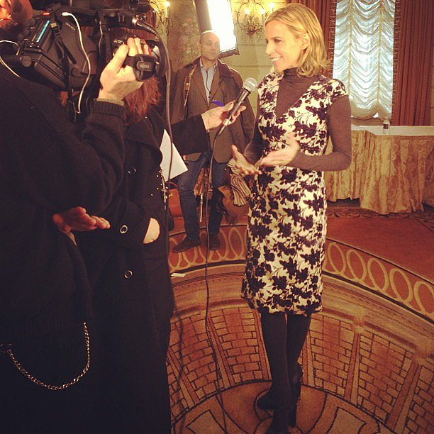 Tory Burch gave us a glimpse of her postshow interview process. Source: Instagram user toryburch