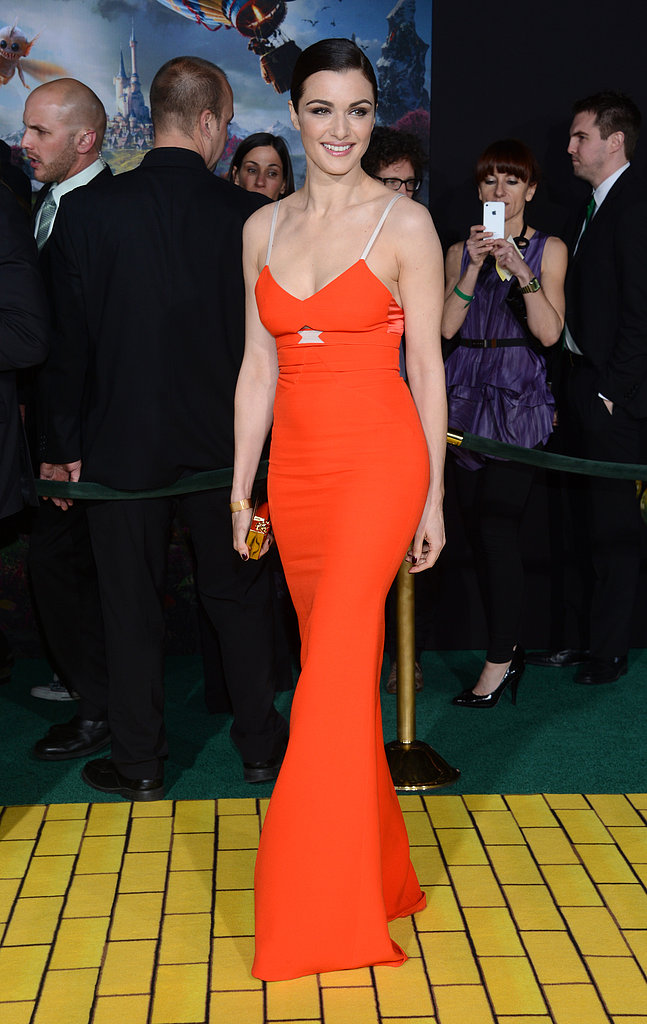 Rachel Weisz's orange Victoria Beckham gown hugged her in all the right places.