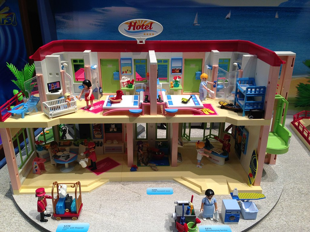 The detailed happenings in each room of Playmobil's Hotel will keep kids busy for hours.