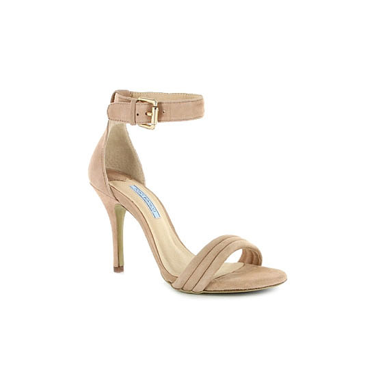 Nude heels elongate the leg and these pretty numbers look the perfect match. — Laura, shopstyle.com.au country manager Heels, $149.95, Tony Bianco at Wanted Shoes