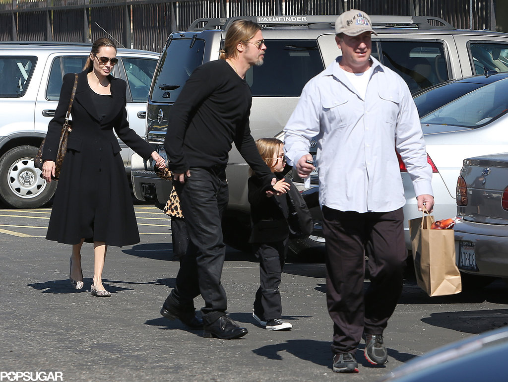 Brad Pitt and Angelina Jolie spent Valentine's Day with Knox and Vivienne.