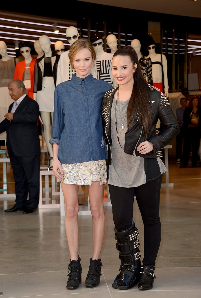 Demi Lovato and Kate Bosworth attended the Topshop/Topman store opening in LA.
