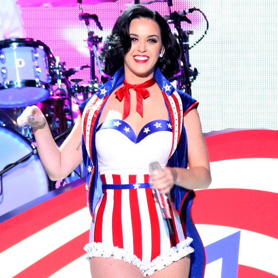 Pictures of Celebrities and American Flags