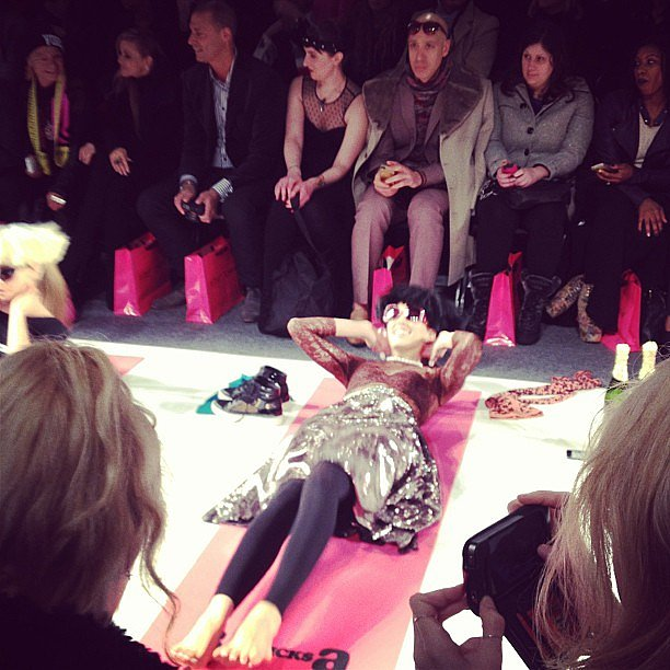 Just some sit-ups at Betsey Johnson.