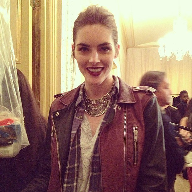 We caught Hilary Rhoda backstage at Zac Posen.