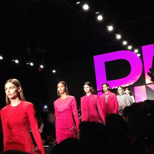 Pink, pink, pink at DKNY.