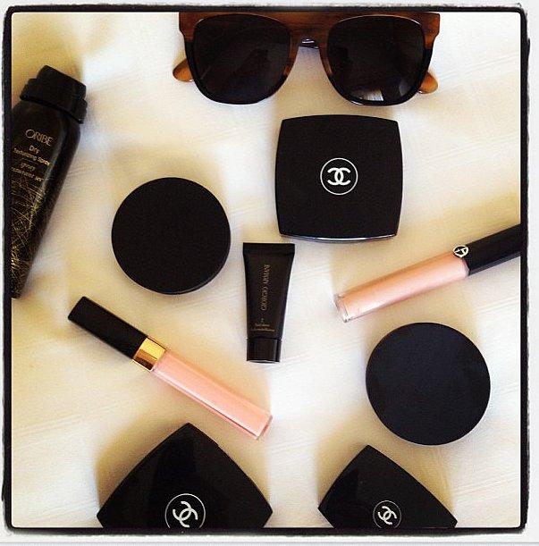 Here's a glimpse inside Nina Garcia's Oscars makeup bag. Source: Instagram user imninagarcia