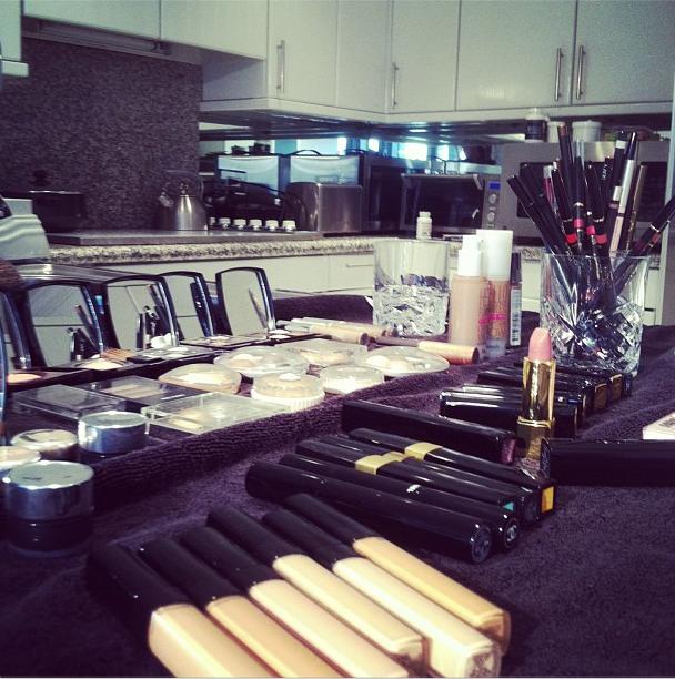 Makeup artist Troy Jensen showed off his stash for getting Oscars red-carpet ready.  Source: Instagram user itstroyjensen