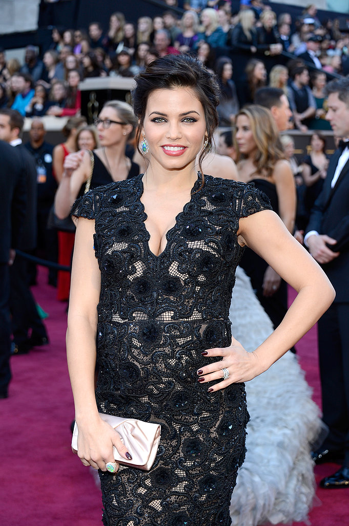 Jenna Dewan on the red carpet at the Oscars 2013.