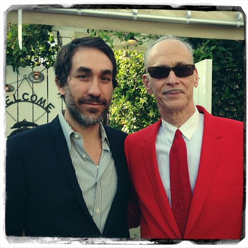 Brent Bolthouse chatted with John Waters after the Independent Spirit Awards on Saturday. Source: Instagram user brentbolthouse