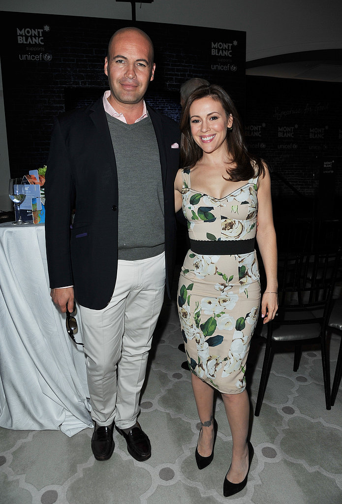 Alyssa Milano chatted with Billy Zane.