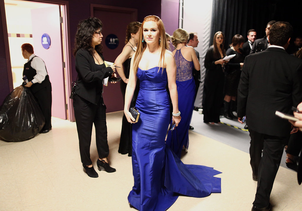Isla Fisher backstage at the 2013 Oscars.
