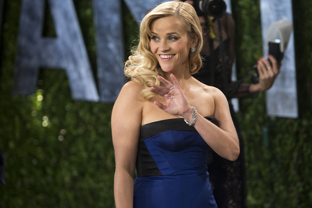 Reese Witherspoon arrived at the Vanity Fair Oscar party on Sunday night.