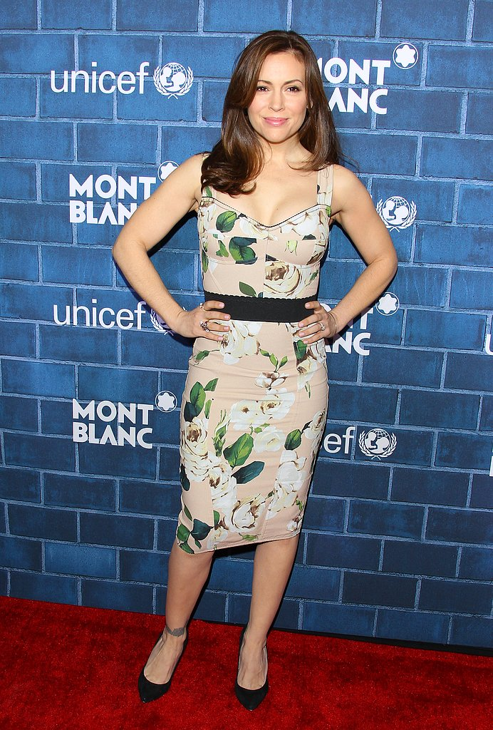 Alyssa Milano at the Montblanc and UNICEF brunch.