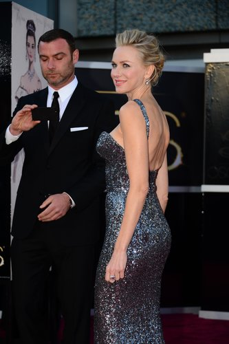 Liev Schreiber snapped a photo of Naomi Watts at the Oscars to remember the moment.