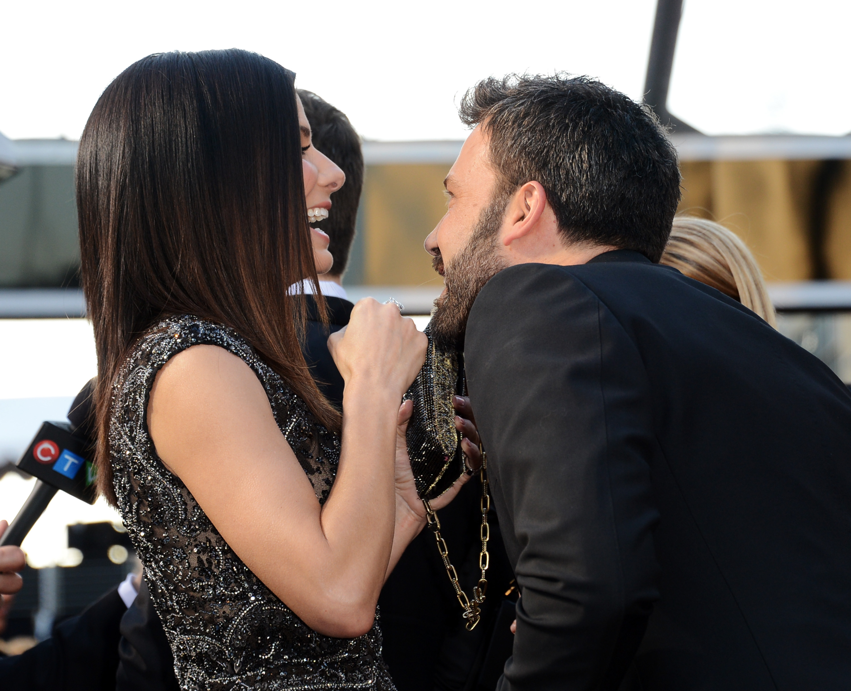 Ben Affleck and Sandra Bullock shared a good laugh.