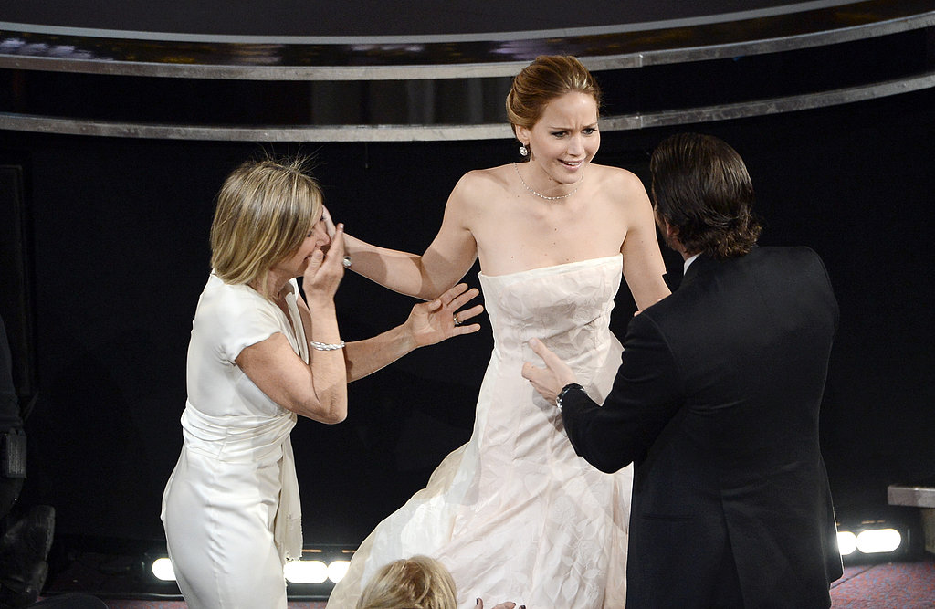 Jennifer Lawrence reacted to her big win at the 2013 Oscars.