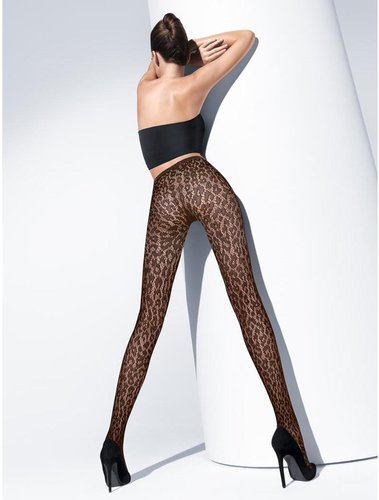 Wolford Mocca Leo Lace Tights
