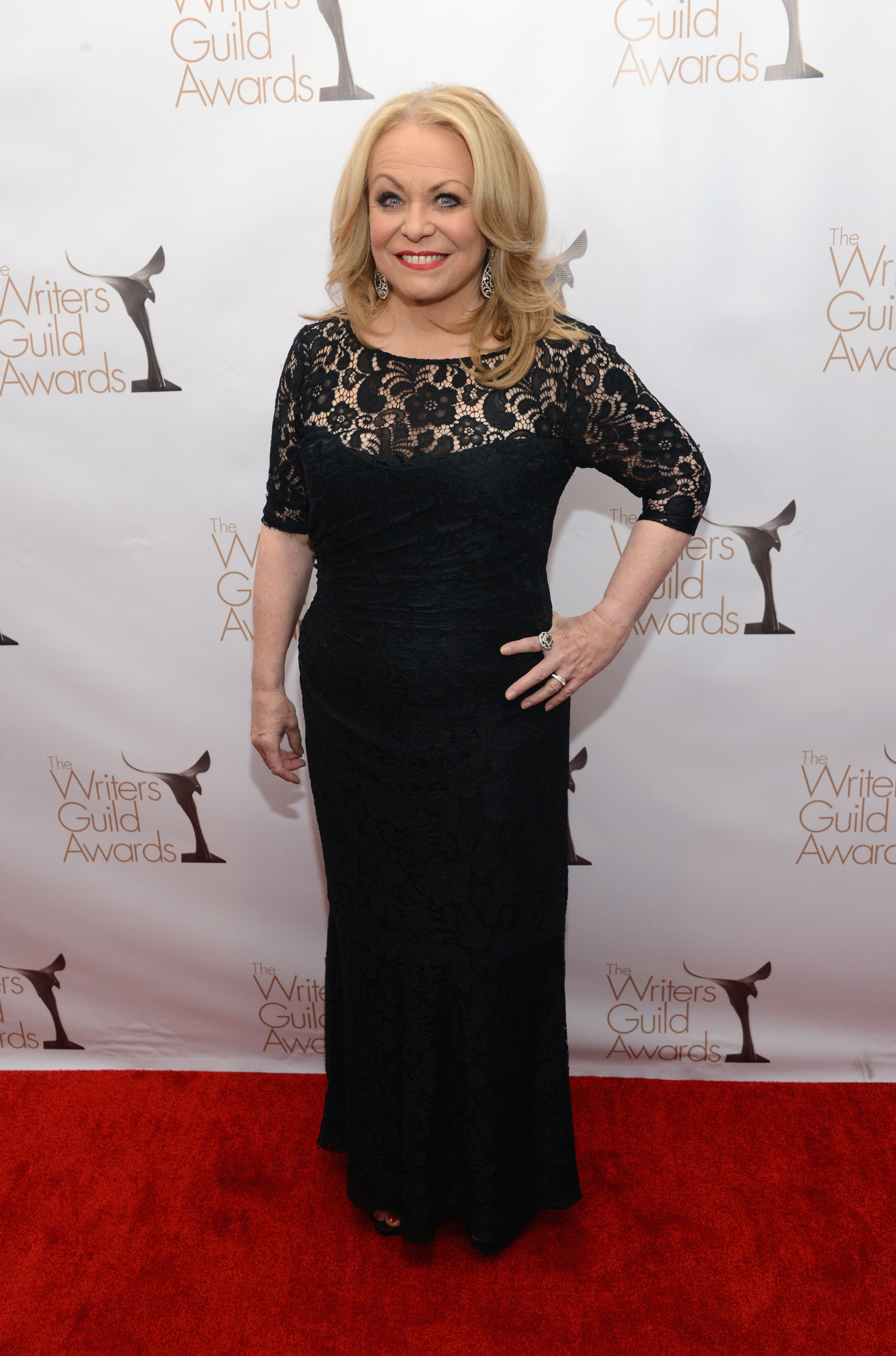 Jacki Weaver wore a lace dress.
