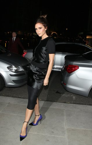 Victoria Beckham struck a pose on her way into a Fashion Week event in London in February.