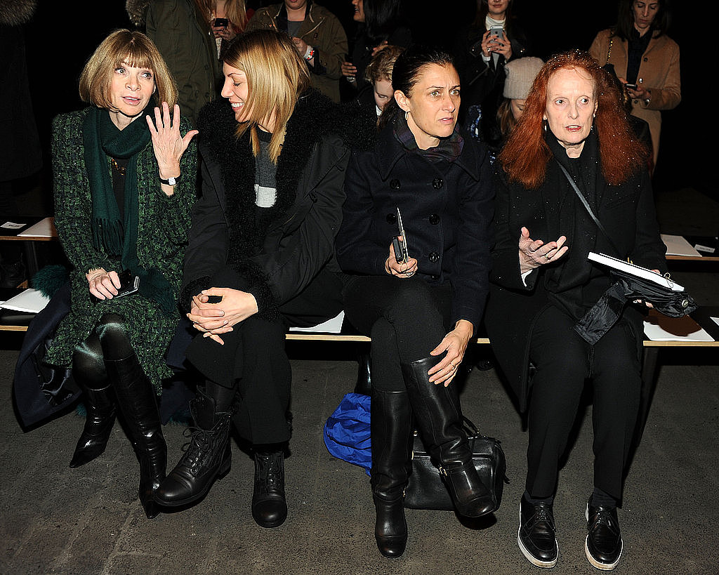 Anna Wintour, Virginia Smith, Sally Singer and Grace Coddington of US Vogue