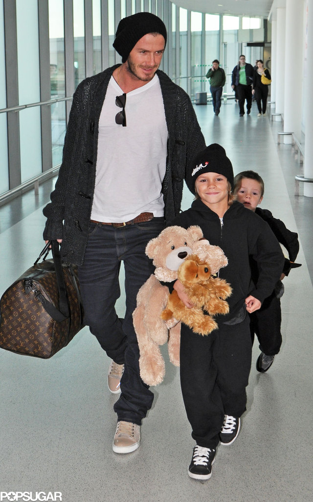 In December 2009, David Beckham, Romeo, and Cruz touched down in London.